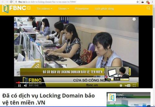 Theo FBNC ( Kênh Kinh tế, tài chính hàng đầu Việt Nam ) - Đã có dịch vụ Locking Domain bảo vệ tên miền .VN