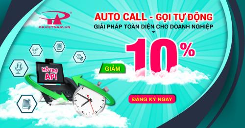 Ưu đãi giảm 10% phí đăng ký dịch vụ auto call