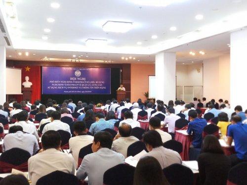 P.A Việt Nam tham dự Hội nghị phổ biến Nghị định số 27/2018/NĐ-CP của Bộ TT & TT tại thành phố Hồ Chí Minh