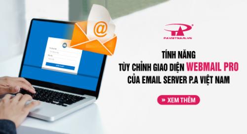 Tính năng Email Server: Tùy chỉnh giao diện Webmail Pro