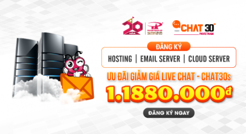 Ưu đãi giảm giá Livechat - Chat30s lên đên 1.188.000VNĐ