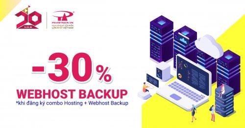 Sao lưu dữ liệu Hosting tối ưu với WebHost Backup - Nhận ngay ưu đãi 30%