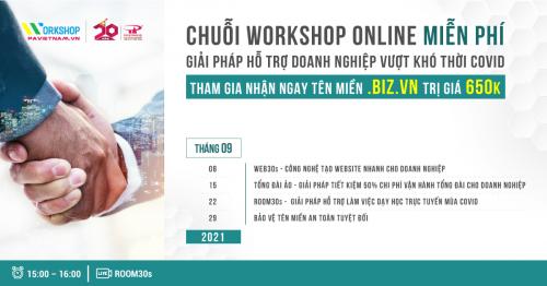 Chuỗi Webinar tháng 09 - Tham gia nhận ngay Website .BIZ.VN trị giá 2 triệu đồng