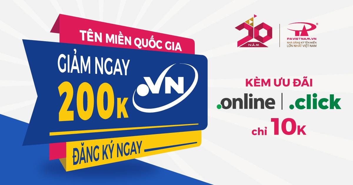 Tên miền .VN - Nâng tầm thương hiệu Việt