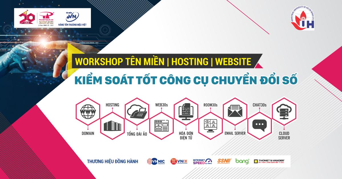 """Unitour IUH """"Tên miền – Hosting - Website kiểm soát tốt công cụ chuyển đổi số"""""""