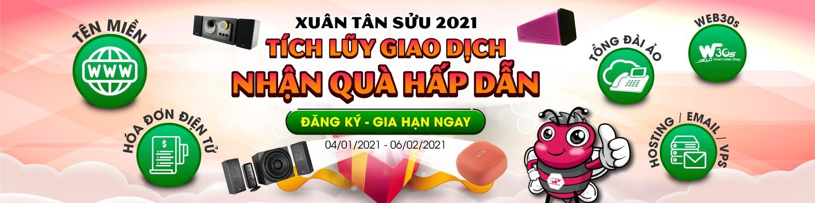 Xuân Tân Sửu 2021 - Tích lũy giao dịch, Nhận quà hấp dẫn tại P.A Việt Nam