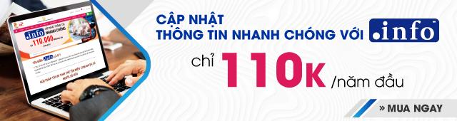 ƯU ĐÃI TÊN MIỀN .INFO - 110K/NĂM ĐẦU