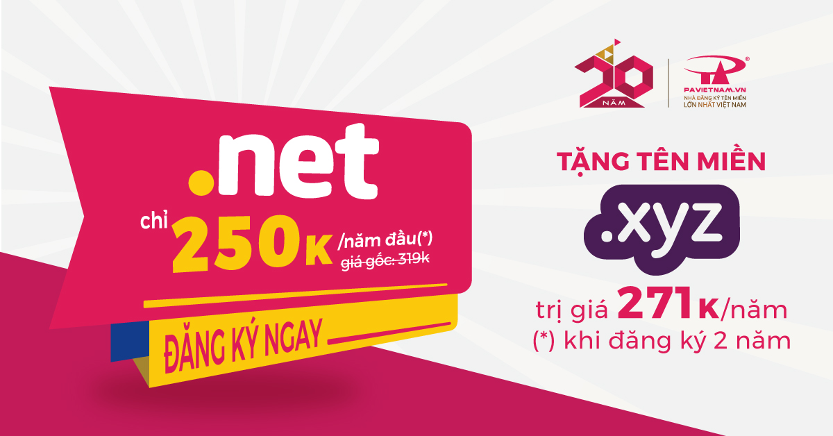 Mở rộng thương hiệu toàn cầu với tên miền .NET
