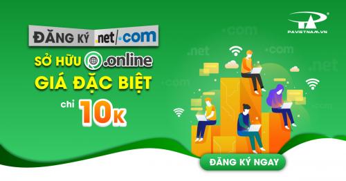 Đăng Ký .COM | .NET sở hữu ngay .ONLINE với giá chỉ 10K!