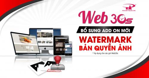 WEB30S RA MẮT TIỆN ÍCH MỚI BẢN QUYỀN ẢNH