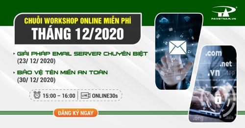 Đăng ký Chuỗi Workshop Online Tháng 12/2020 tại P.A Việt Nam